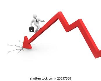 The businessman overcome financial crisis.