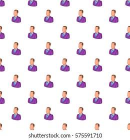 Businessman pattern. Cartoon illustration of businessman  pattern for web