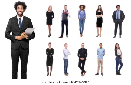 businessman with people in the back
