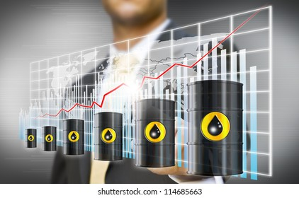 Businessman petrol crisis concept