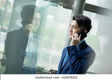 Businessman pick up a call