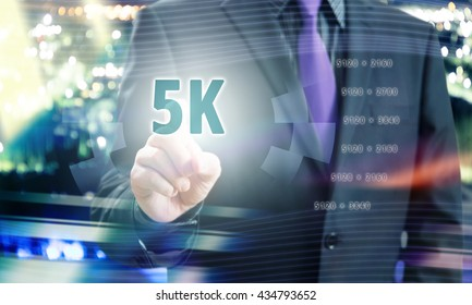 Businessman Pointing 5K Resolution in Communication Concept Image