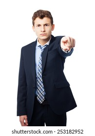 businessman pointing you