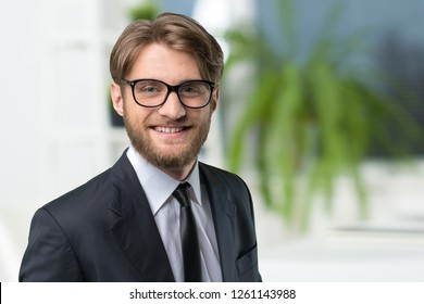 Businessman portrait close up