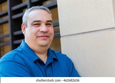 Businessman posing for business portrait.