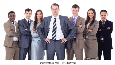 businessman and professional multinational business team