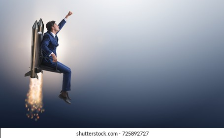 Businessman in promotion business concept