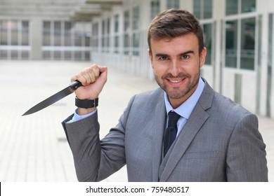 Businessman with psychopathic behaviors