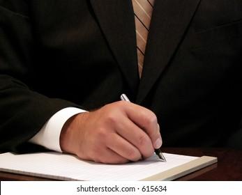 businessman ready to take notes