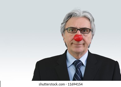 Businessman with a red nose