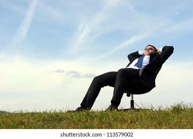 businessman relax