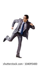 Businessman running for success
