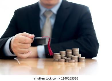 Businessman saveing for eudcation