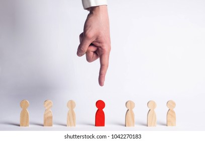 Businessman in search of new employees and specialists. The concept of personnel selection and management within the team. Dismissal and hiring people to work. Human Resource Management.