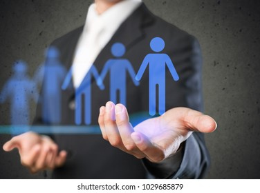 Businessman is selecting best employee candidate