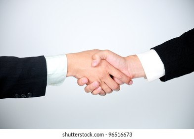businessman shaking  hands after finished discussed