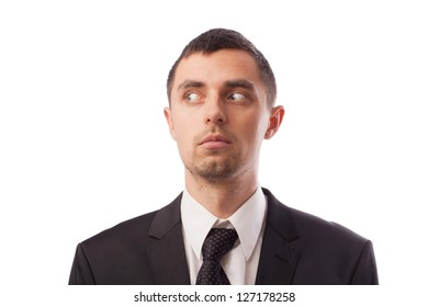 Businessman showing emotions in different situations
