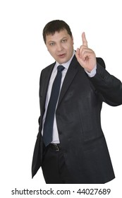 businessman showing ok isolated over white