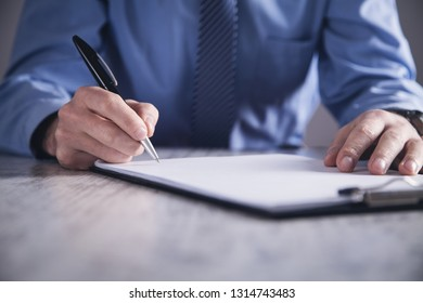 Businessman signing contract. Making deal. Business concept