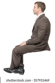 Businessman sitting on empty place