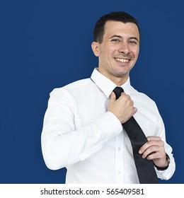 Businessman Smiling Happiness Portrait Concept