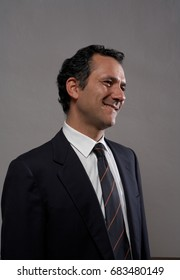 Businessman smiling looking away