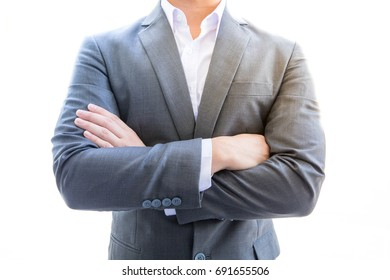 businessman stand Excitement he has smart pose and he is Business Owners Star up about project business have strain and this man rich Billionaire personality