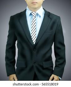 businessman standing looks smart