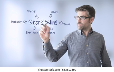 businessman  with storytelling