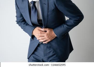 Businessman, struggle, pain