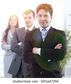 businessman and successful business team