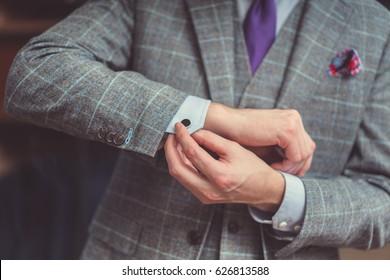 Businessman in suit close-up