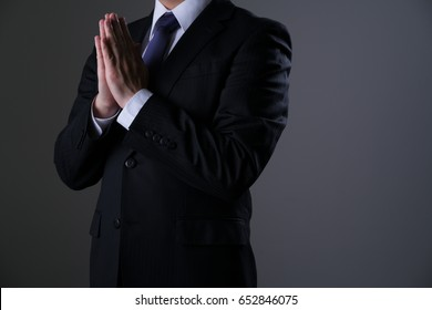 Businessman, Suit, Prince, Praying, Fitting hands together