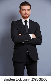 businessman in a suit smiling