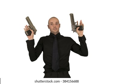 Businessman surrender isolated