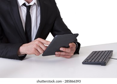 businessman with the tablet
