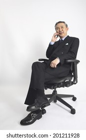 Businessman talking on Cell-phone