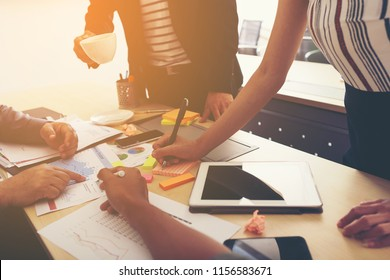 Businessman and team talking and briefing of business plan and strategy at meeting room  - Shutterstock ID 1156583671