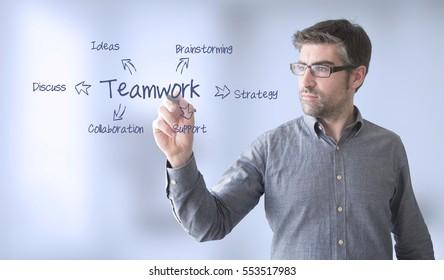 businessman  with teamwork