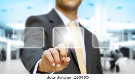 Businessman technology concept