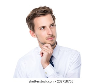 Businessman think of idea
