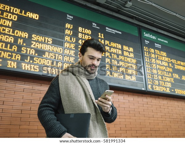 Businessman in the Train Station.