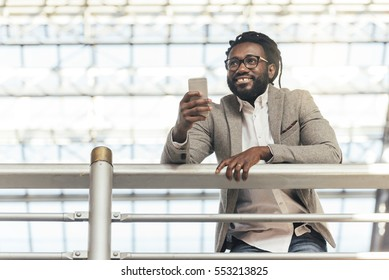 Businessman in the Train Station. Business Concept