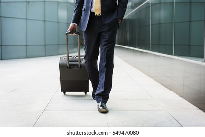Businessman Traveler Journey Business Travel