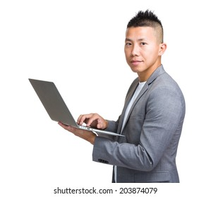 Businessman type laptop computer
