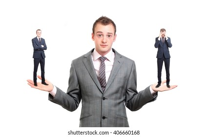 A businessman unsure of a decision