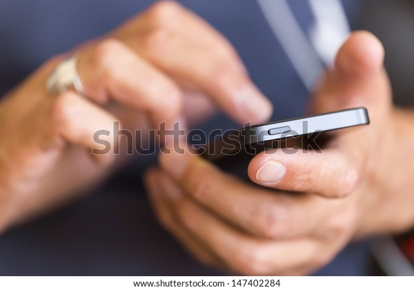 businessman use mobile phone