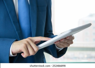 Businessman use the Tablet PC