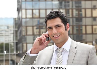 Businessman using a cellphone