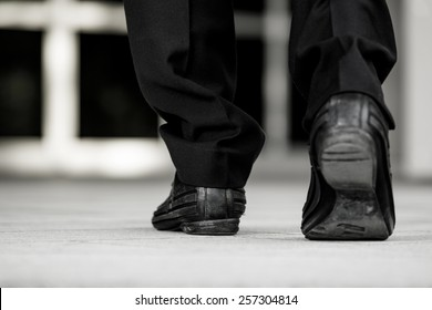 Businessman walking to the office.